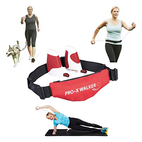 Pro-X Walker einzigartiges Widerstandstrainings für unterwegs, Out & Indoor, Pilates, Physiotherapie, Nordic Walking, Krafttraining, Fitness, Kinderwagen- & Hundespaziergang(Strong)