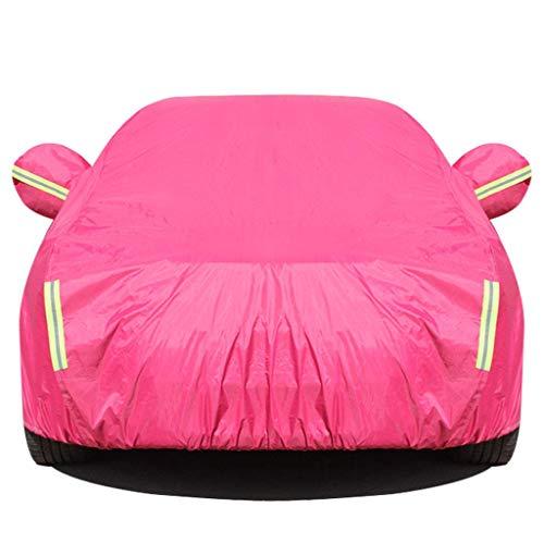 Jsmhh Car-Cover Windschutzscheibe Frostschutz- Abdeckung Auto Abdeckplane Kompatibel mit Renault, Silber, CAPTUR (Color : Pink, Size : Cardustcover)
