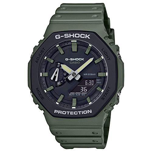 Men's Casio G-Shock Analog-Digital Carbon Core Guard Army Green Resin Strap Watch GA2110SU-3A