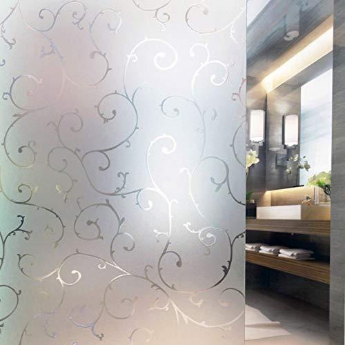Tamia-Living milchglasfolie Fensterfolie Milchglas Duschkabinen Blickdicht Folie Fenster Selbstklebend Sichtschutzfolie Sichtschutz Statisch Haftend Glasdekor Rebe S007 (67,5 * 200cm)
