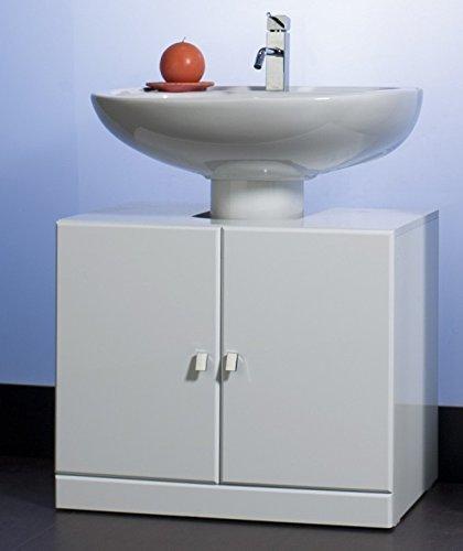 Bagno Italia Base copri colonna colore bianco lucido con due ante con maniglia l