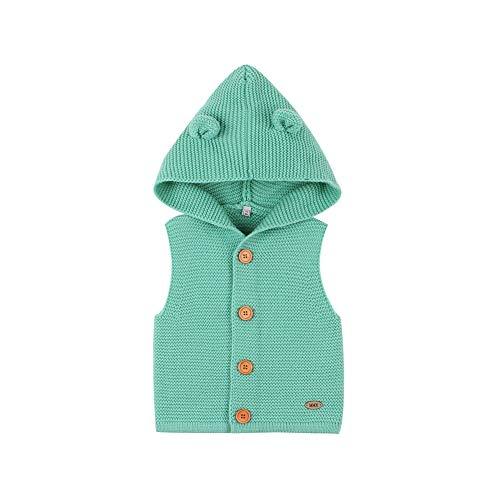 Glücklicher Käufer Baby Strickpullover Ärmellos Kapuzenpullover Weste Pullover Mädchen Jungen Warm Tank Top Winter 0-24 Monate (Grün, 18-24 Monate)