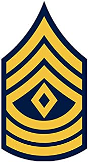 JS Artworks United States Army First Sergeant 1sg E-8 Rank Insignia Vinyl Sticker Decal