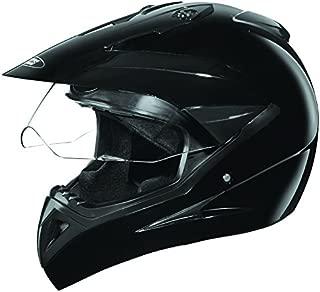 Studds Motocross Plain SUS_MVPFFH_BLKL Full Face Helmet with Plain Visor (Black,L,580mm)