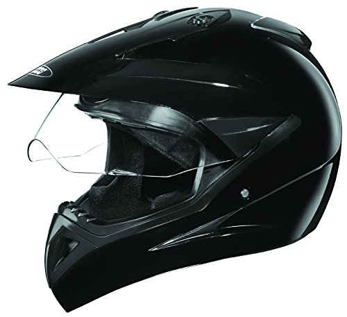 Studds Motocross Plain SUS_MVPFFH_BLKL Full Face Helmet with Plain Visor (Black,L,580mm)