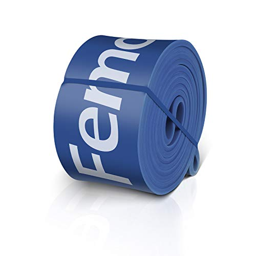 FEMOR Elastici Fitness 2080mm, Elastici Fitness Resistenza 65-175Lb, Elastici Fitness Lattice Naturale, Loop Bands Set per Stretching, Blu
