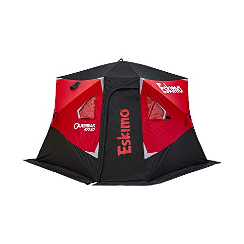 Eskimo Outbreak 450XD Pop-up Portable Insulated Ice Fishing Shelter, 75 sq ft. Fishable Area, 4-5 Person