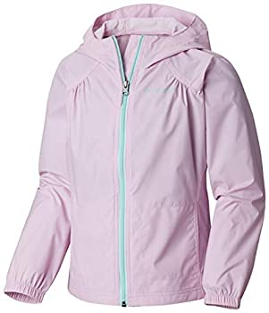 Columbia Girls  Big Switchback Rain Jacket Pink Clover Large