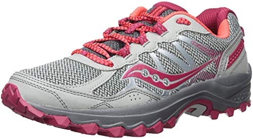 Saucony Women's Excursion TR11 Running Shoe, Grey Pink, 7 Wide US
