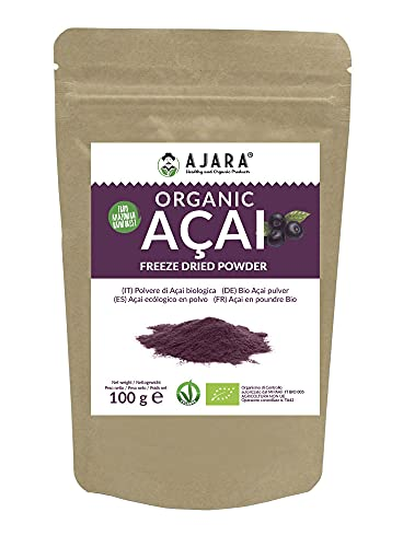Acai en polvo biológico [Congelador Dried] 100 gramos en bolsa para conservar...