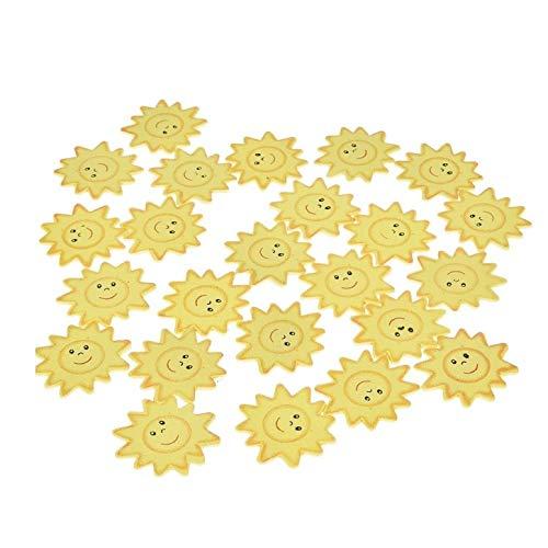 efco Scatter Sonnen, Miniatur aus Holz, gelb, 35mm, 24Stück