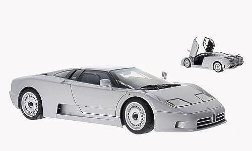Bugatti EB110 GT, metallic-grau, 1991, Modellauto, Fertigmodell, AUTOart 1 18