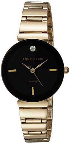 Anne Klein Reloj analógico para Mujer de Cuarzo japonés con Correa en Aleación AK/2434BKGB