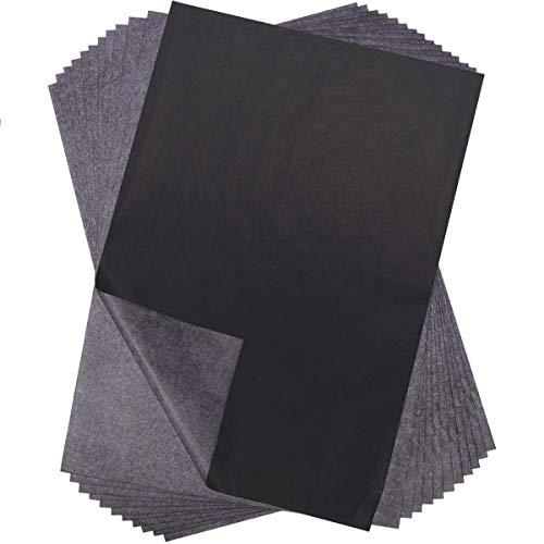 Papier węglowy, 100 paczek czarny karbonowy papier śledzący do płótna i innych powierzchni artystycznych