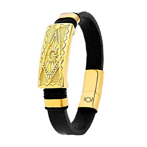Lederarmband Herren Luxus Premium Goldfarbe