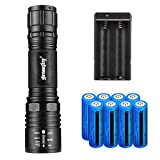 Best 18650 Batteries - 18650 flashlight 5 modes with one pack two-Slot Review