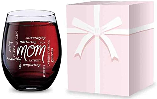 new arrival Stemless Wine Glass Mom outlet sale - wholesale Made of Unbreakable Tritan Plastic - 16 ounces online