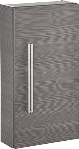 FACKELMANN Hängeschrank Lugano/mit Soft-Close-System/Maße (B x H x T): ca. 35 x 68 x 16 cm/hochwertiger Schrank fürs Bad/Türanschlag rechts/Korpus: Grau/Front: Grau/Breite 35 cm
