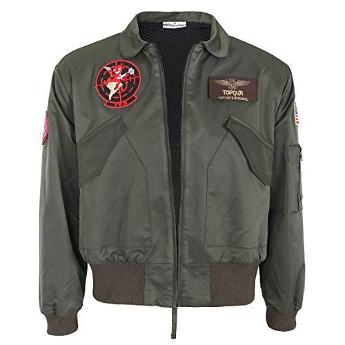 CoolChange Top Gun Kostüm, Bomberjacke von Maverick, Größe: M