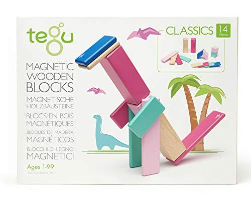 14 Piece Tegu Magnetic Wooden Block Set, Blossom
