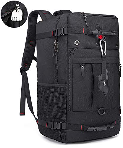 KAKA 40l Travel Backpack, Carry On Bag Durable Backpack Duffle Bag Fit for 15.6 Inch Laptop for Men and Women (black)