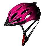 NaisiCore Casco de Ciclista Adulto Ligero Casco de la Bici del Casco de la Bicicleta con la luz Trasera Ajustable Hombres Mujeres Rosa Equipamiento Bicicletas