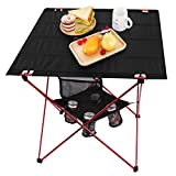 Best Camping Tables - MOVTOTOP Folding Camp Table, 2 Tier Portable Camping Review
