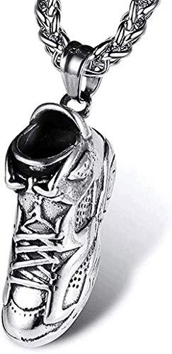 DUEJJH Co.,ltd Joyería para Mujer Collares para Mujer Collares para Hombre Collares de Acero Inoxidable Calzado Deportivo Collares de Hip Hop Colgantes de Acero titani Día de San Valentín