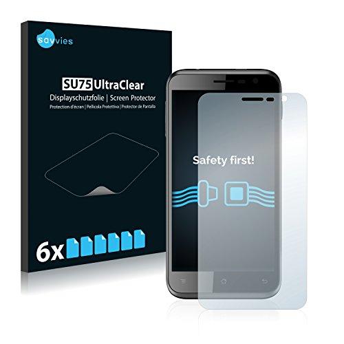 Savvies 6X Schutzfolie kompatibel mit Archos 50c Neon Displayschutz-Folie Ultra-transparent