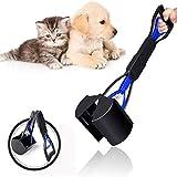 u/d Pooper Scooper para perros y mascotas, recogedor de excrementos con pala, plegable para mascotas, con mango de pick Up, resistente, 60 cm, para exteriores e interiores