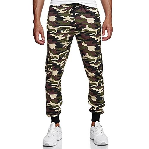 Glamexx24 Pantalones de camuflaje para hombre, pantalones de deporte para correr, ropa de calle, ajustados