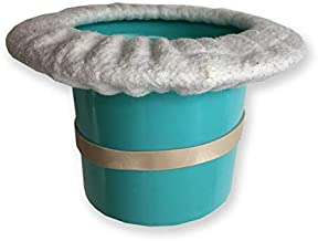 Top Hat Potty for Newborn Infant Potty Training | Elimination Communication | Includes 100% Cotton Undyed Fleece Cozy | Anti-Slip Rubber Band | for EC Baby Potty Training (Turquoise)