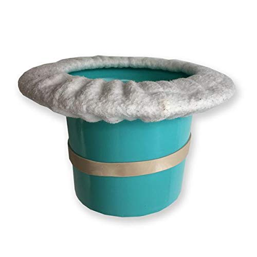 Top Hat Potty for Newborn Infant Potty Training   Elimination Communication   Includes 100% Cotton Undyed Fleece Cozy   Anti-Slip Rubber Band   for EC Baby Potty Training (Turquoise)