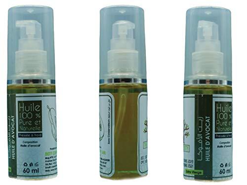 L'huile d'avocat Pure Anti Vergeture de Grossesse - Anti Age Vieillissement de peau et Eczéma Huile Extra Vierge Naturelle Pression à Froid hydrate Pe
