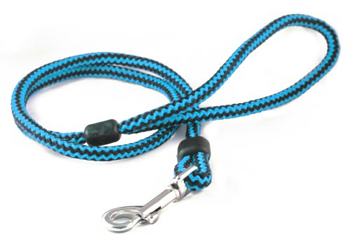 Outhwaite Harlequin Hundeleine/Retrieverleine mit Triggerhaken, 9mmx1m, Blau/Schwarz