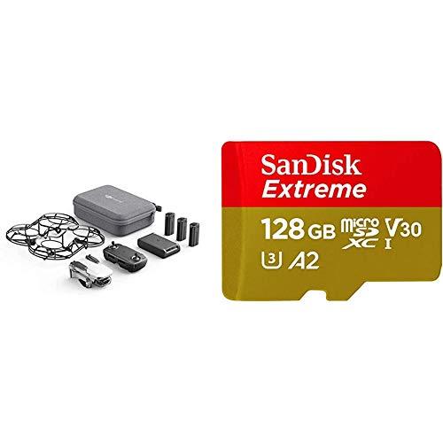 DJI Mavic Mini Combo (EU) + Con Care Refresh - Dron Ultraligero y Portátil + SanDisk Extreme - Tarjeta de Memoria MicroSDXC de 128GB con Adaptador SD