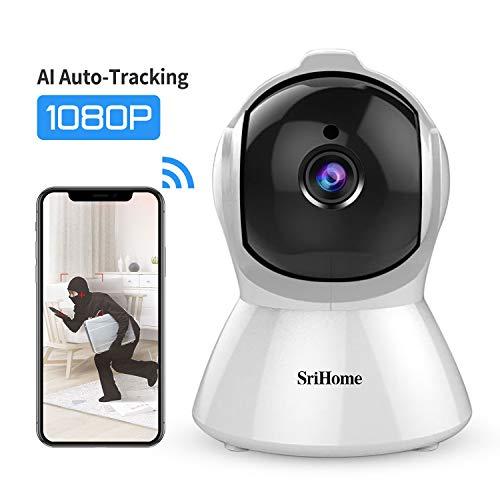 Caméra de Surveillance WiFi Intérieur, SriHome Caméra IP WiFi 1080P avec Détection de Mouvement,...