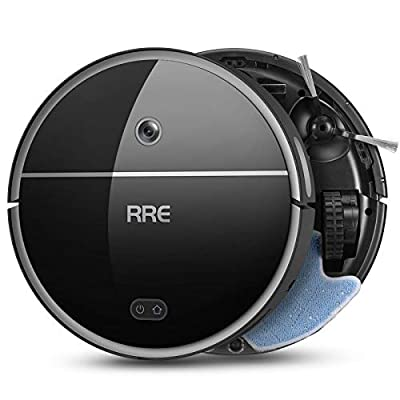 RRE Robot Vacuum, 2-in-1 Vacuum and Mop, Ideal for Pet Hair,Floor and Carpets,Smart Mapping,Wi-Fi Connected, Slim Robotic Vacuum Cleaner, Self-Charging, Automatic, Strong Sucion,Works with Alexa