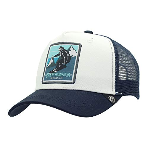 The Indian Face Born To Snowboard Cap, unisex, blauw en wit, eenheidsmaat