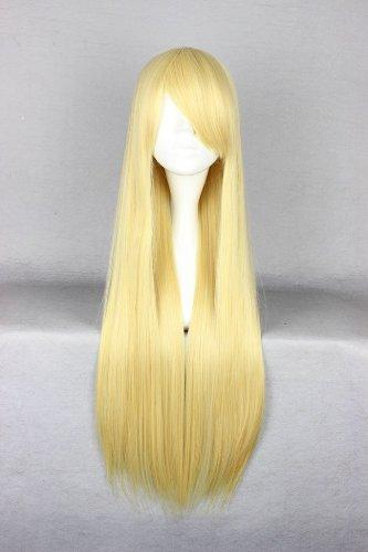 Ladieshair Cosplay Perücke goldblond 80cm glatt