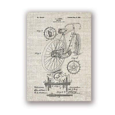 Racing Bicycle Artwork Bicycle Wall Art Canvas Painting Poster Decoración del hogar A3 30x42cm