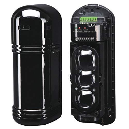 Kirmax ABE-200 Detector Infrarrojo de Tres Haces y 3 Haces Valla de Alarma Perimetral Deslumbramiento AntirradiacióN Hasta 50000LUX