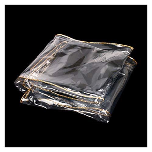 ALGWXQ Lona Transparente con Ojales Alta Estabilidad Tienda Cochera Patio Funda Protectora Impermeable Lona De Partición A Prueba De Polv Viento, 21 Especificaciones (Color : Clear, Size : 1.5x3m)