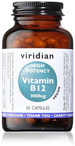Viridian High Potency Vitamin B12 1000ug Vegetable Capsules 60