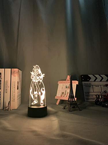 Decoraciones de navidad Anime Gurren Lagann Simon luz de noche Led para decoración de dormitorio lámpara de noche Tengen Toppa Gurren Lagann regalo acrílico neón lámpara 3d DUYAO00