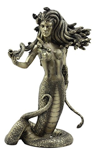 Ebros Greek Mythology The Seductive Spell of Medusa Statue 8' Tall Temptation of The Demonic Goddess Medusa Gorgonic Sister Figurine