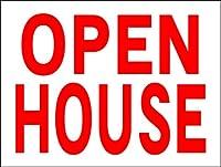 シンプル看板「OPEN HOUSE」不動産 Mサイズ(約H45cmxW60cm)屋外可