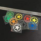 Los aficionados G056 5x5 cm reflectante Estrellas seguridad de la motocicleta pegatinas casco de la bici de la motocicleta pegatinas DIY GP ATV Coches de la etiqueta engomada (Color : A set(9pcs))