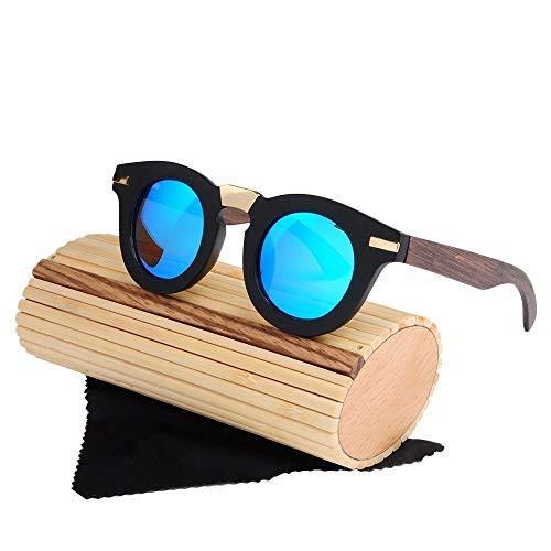 Zonnebril UV 400 heren sport gepolariseerde zonnebril bamboe been handgemaakte bril baseball, golf, jacht, hardlopen, rijden; bikeurvakantie en alledaagse kleding / als cadeau voor vrienden en mensen