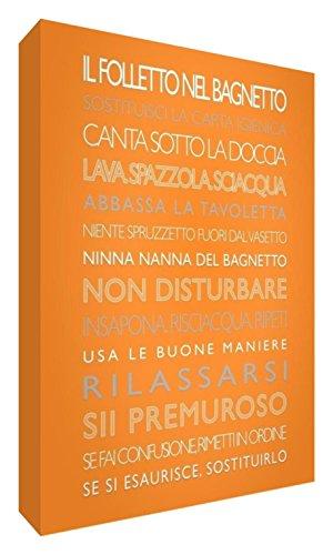 Le lutin dans la salle de bain décorative 15 x 10.5 x 2cm Orange